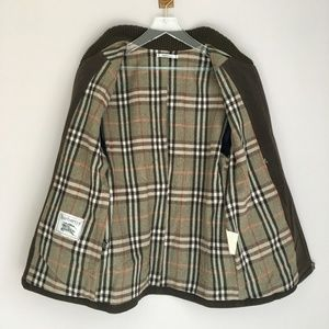 VTG Burberry Nova Check Wool Hunting Jacket M